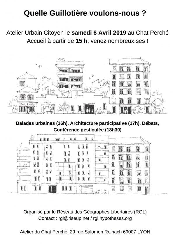Quelle Guillotière voulons-nous ? - Atelier urbain citoyen Samedi 6 Avril 15h-20h