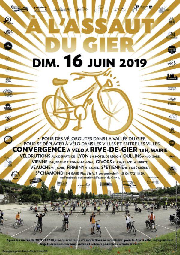 """Vélorution: """"A l'assaut du Gier"""" 16 Juin 2019"""