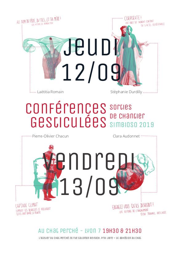Jeudi 12 et Vendredi 13 Septembre: conférences gesticulées