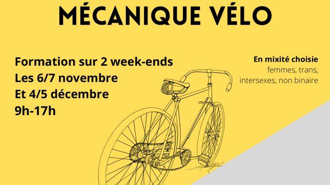 affiche de la formation de mécanique vélo en mixité choisie